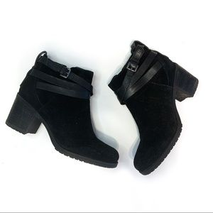 Sam Edelman black suede block heel bootie size 7.5